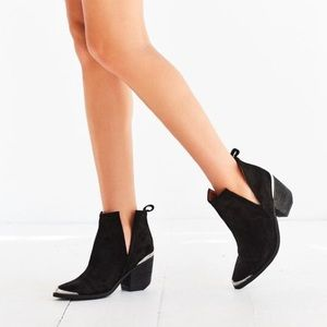Jeffrey Campbell | Cromwell Black Suede Booties